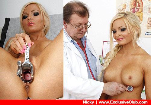 Fantastische Blond-haarig Arzt Kontrolle Film