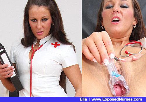 Krankenschwester Ella ist bereit für eine Ganzkörper-Untersuchung
